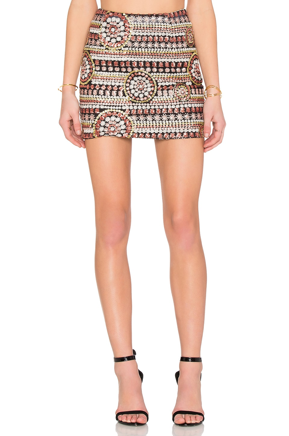 WYLDR Keep It Together Mini Skirt in Multi