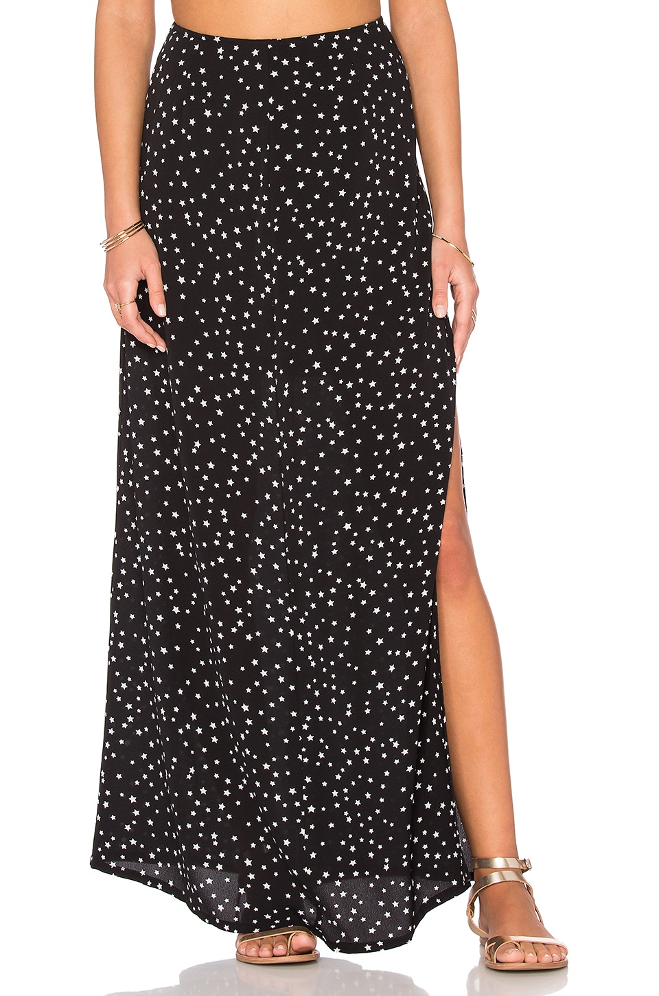 WYLDR Partition Maxi Skirt in Multi