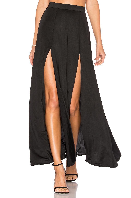 WYLDR Dream Night Maxi Skirt in Black