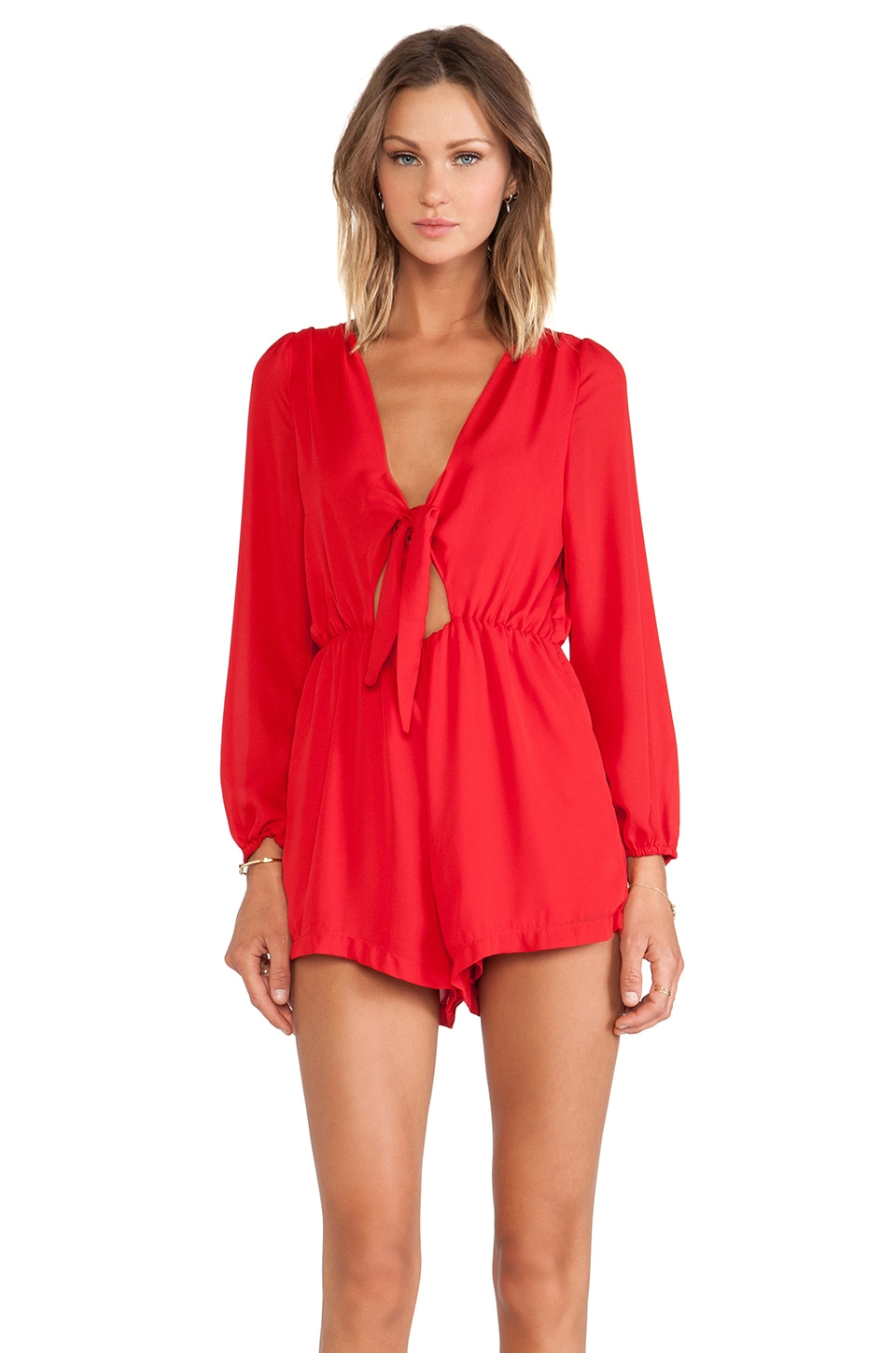WYLDR Take the Lead Playsuit in Red