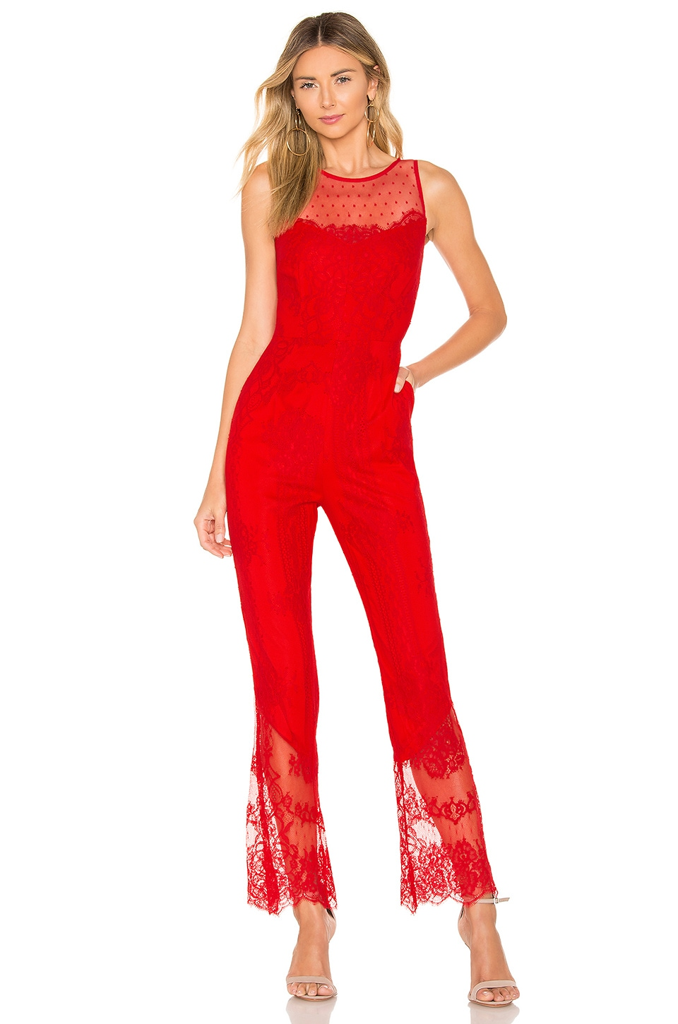 X BY NBD Rafaela Jumpsuit in Red