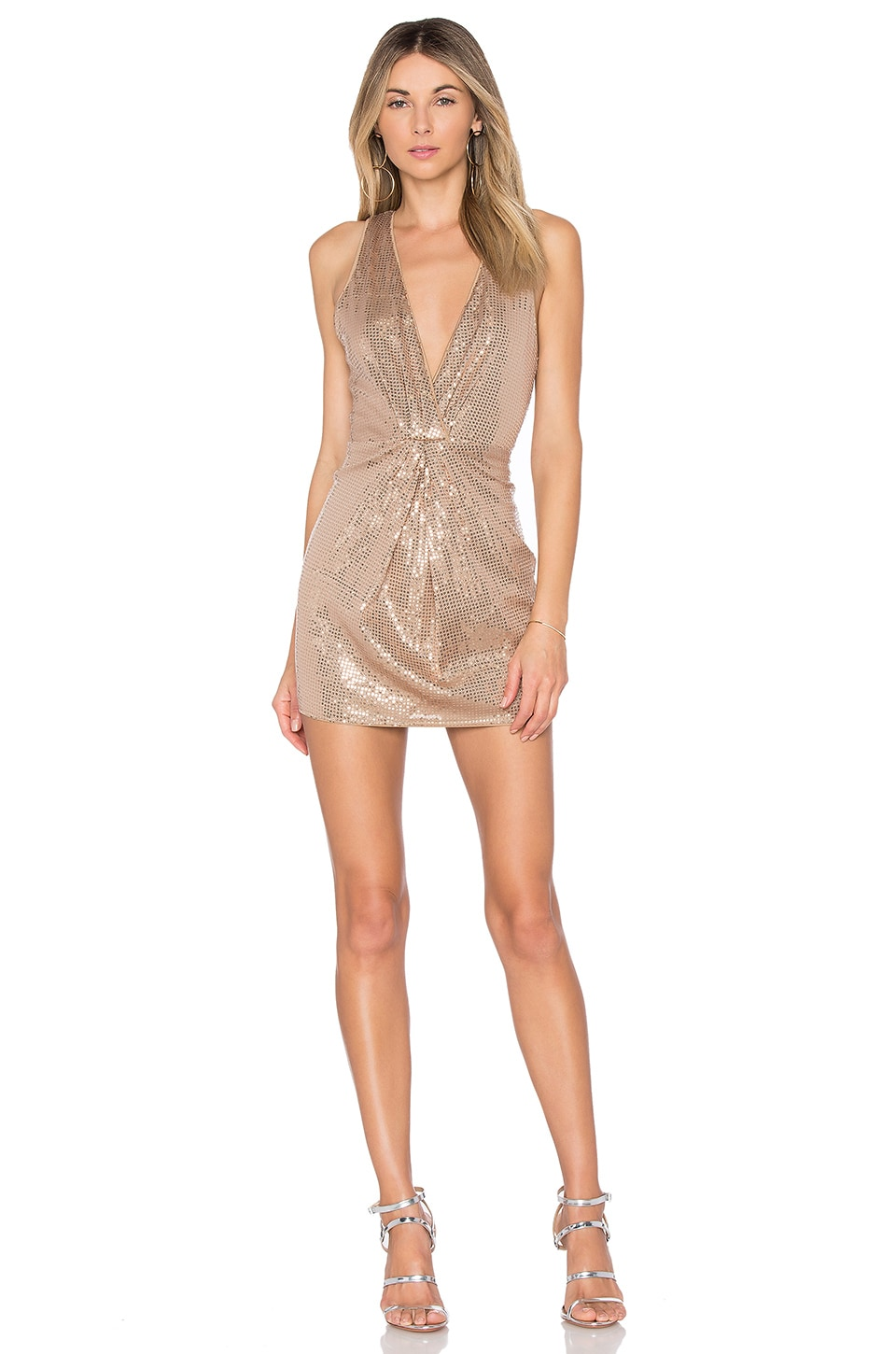 X by NBD Genevieve Dress in Taupe