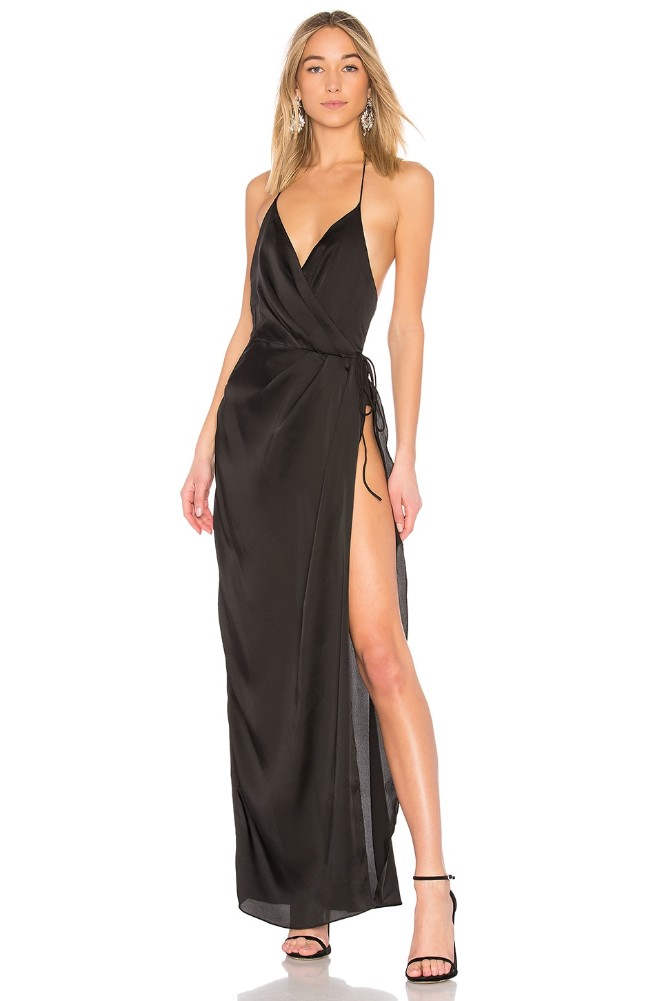 X by NBD So Anxious Gown in Black