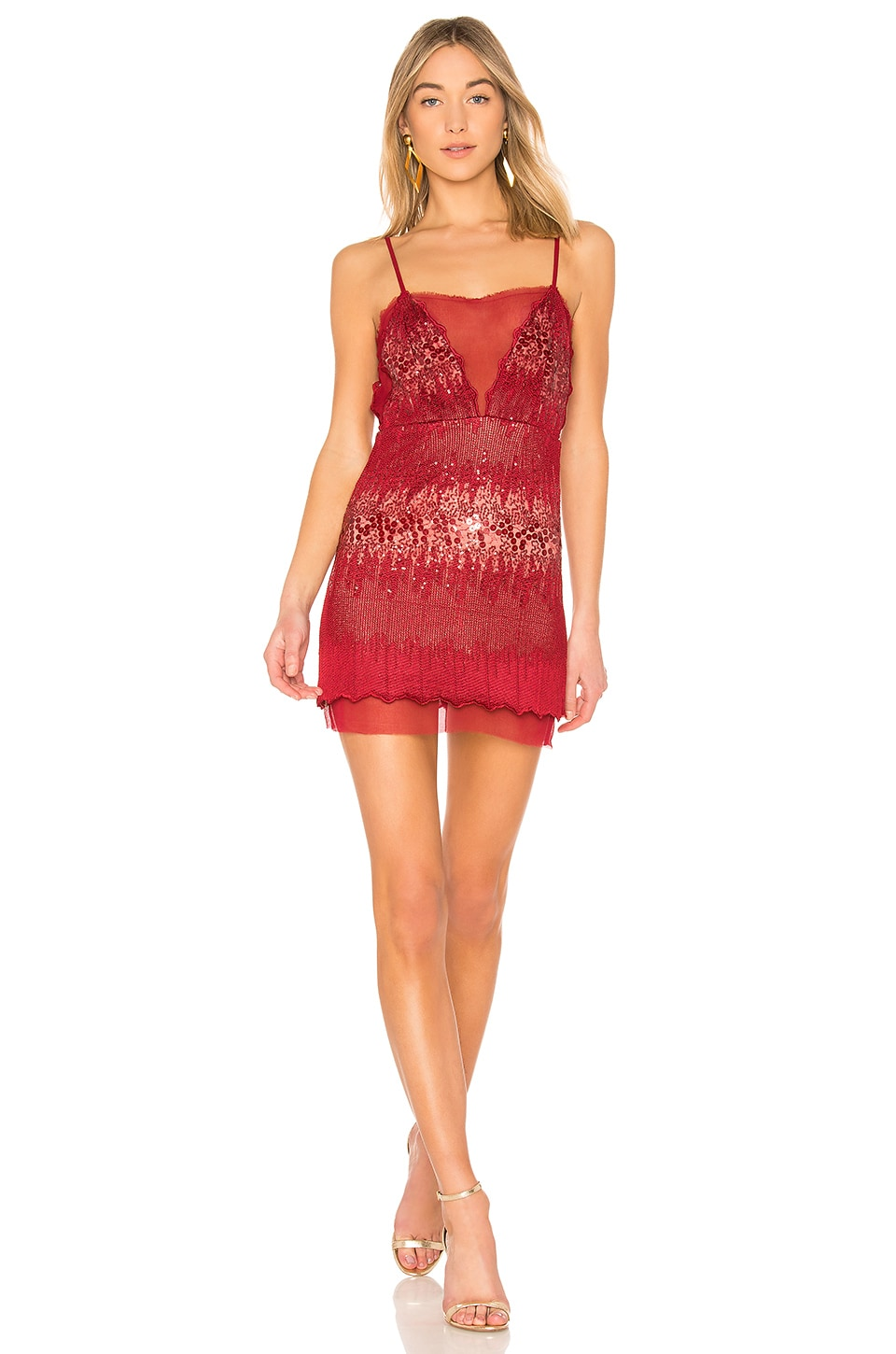 X by NBD Gio Dress in Flame