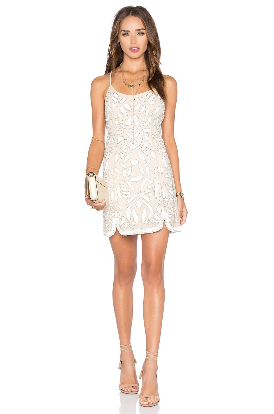 X by NBD Madeline Dress in Ivory