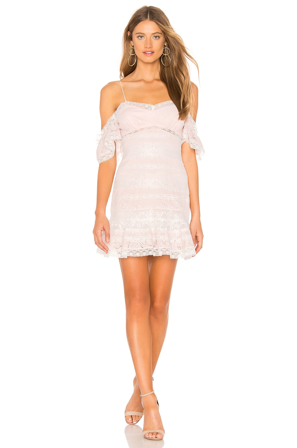 X by NBD Page Mini Dress in Light Pink