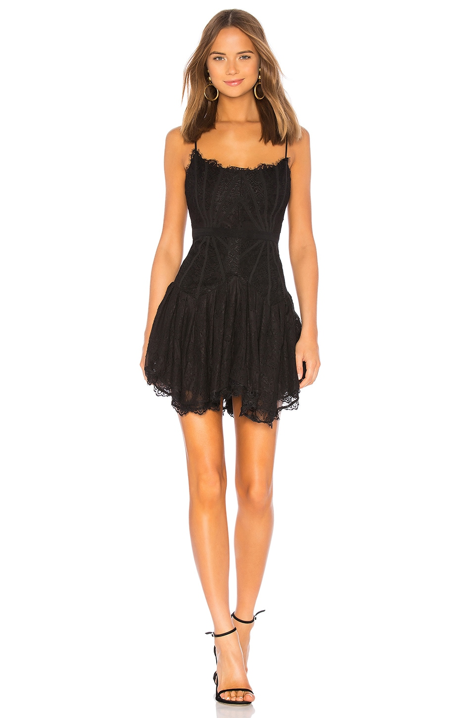 X by NBD Riley Mini Dress in Black