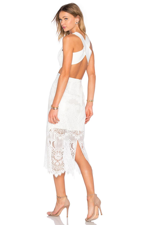 X by NBD Leila Dress in White