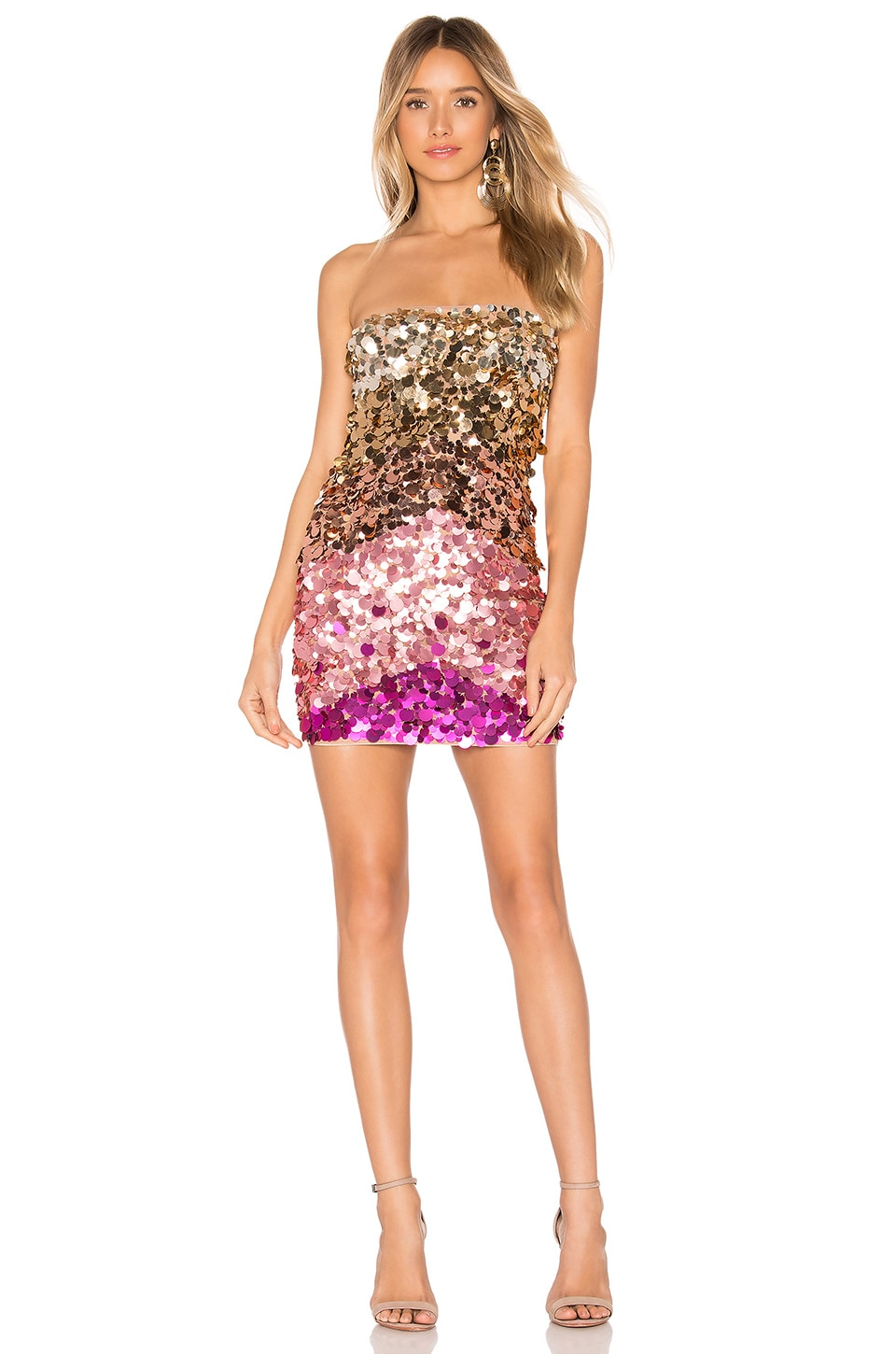 X by NBD Taleah Embellished Mini Dress in Pink