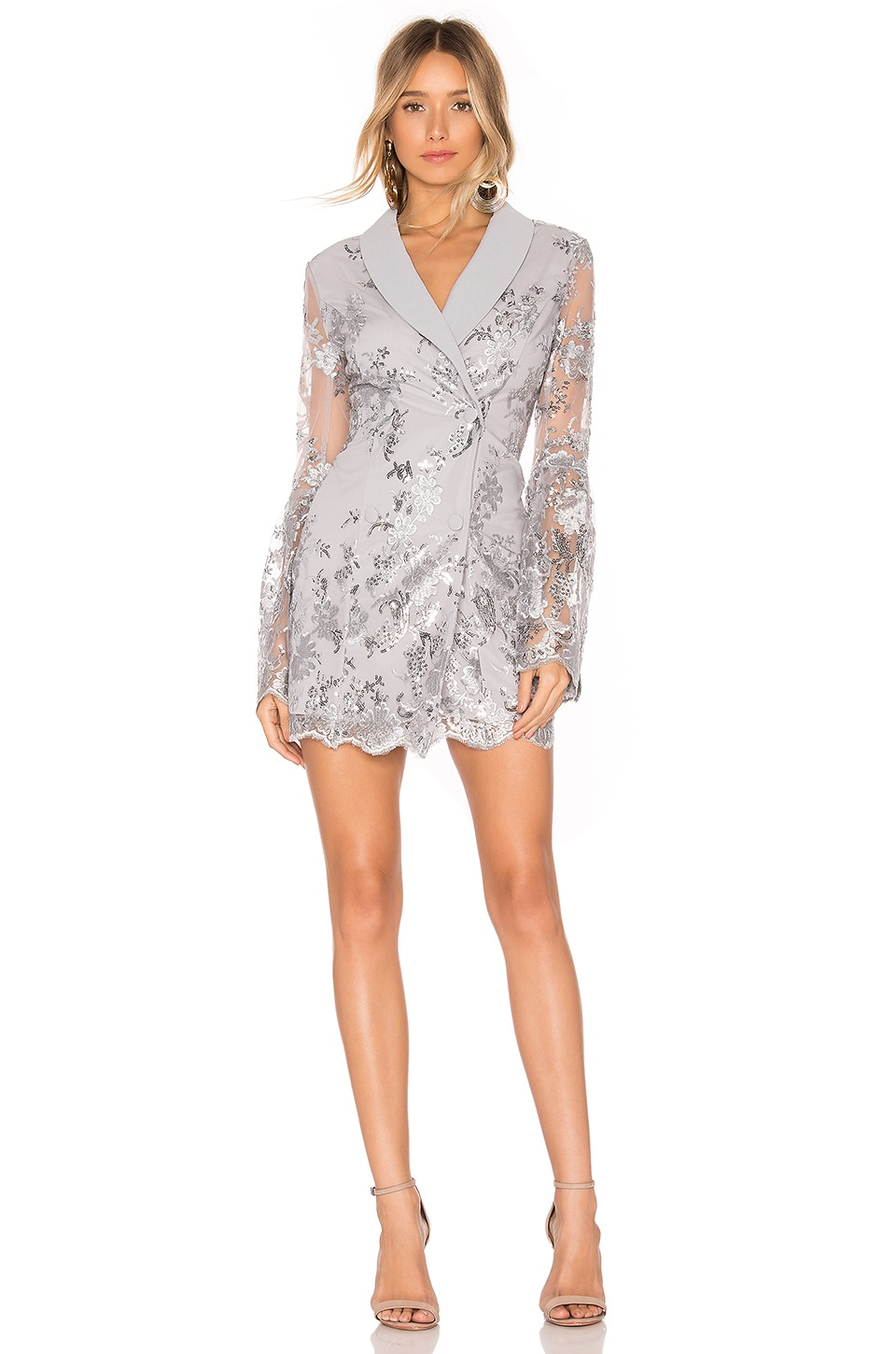X by NBD Parker Suit Dress in Silver