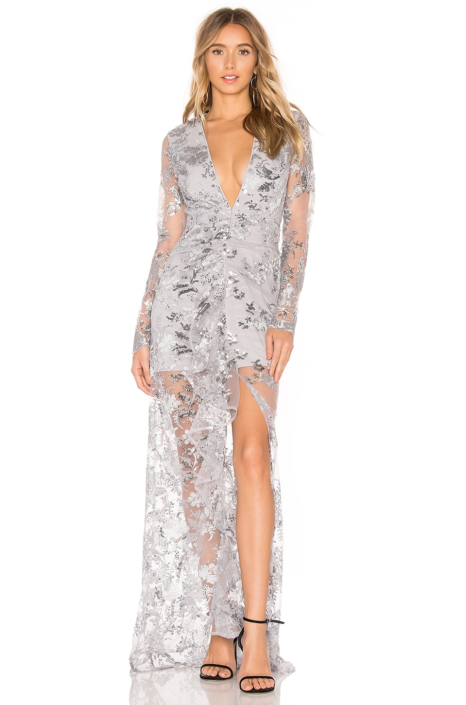 X by NBD Ice Melts Gown in Silver