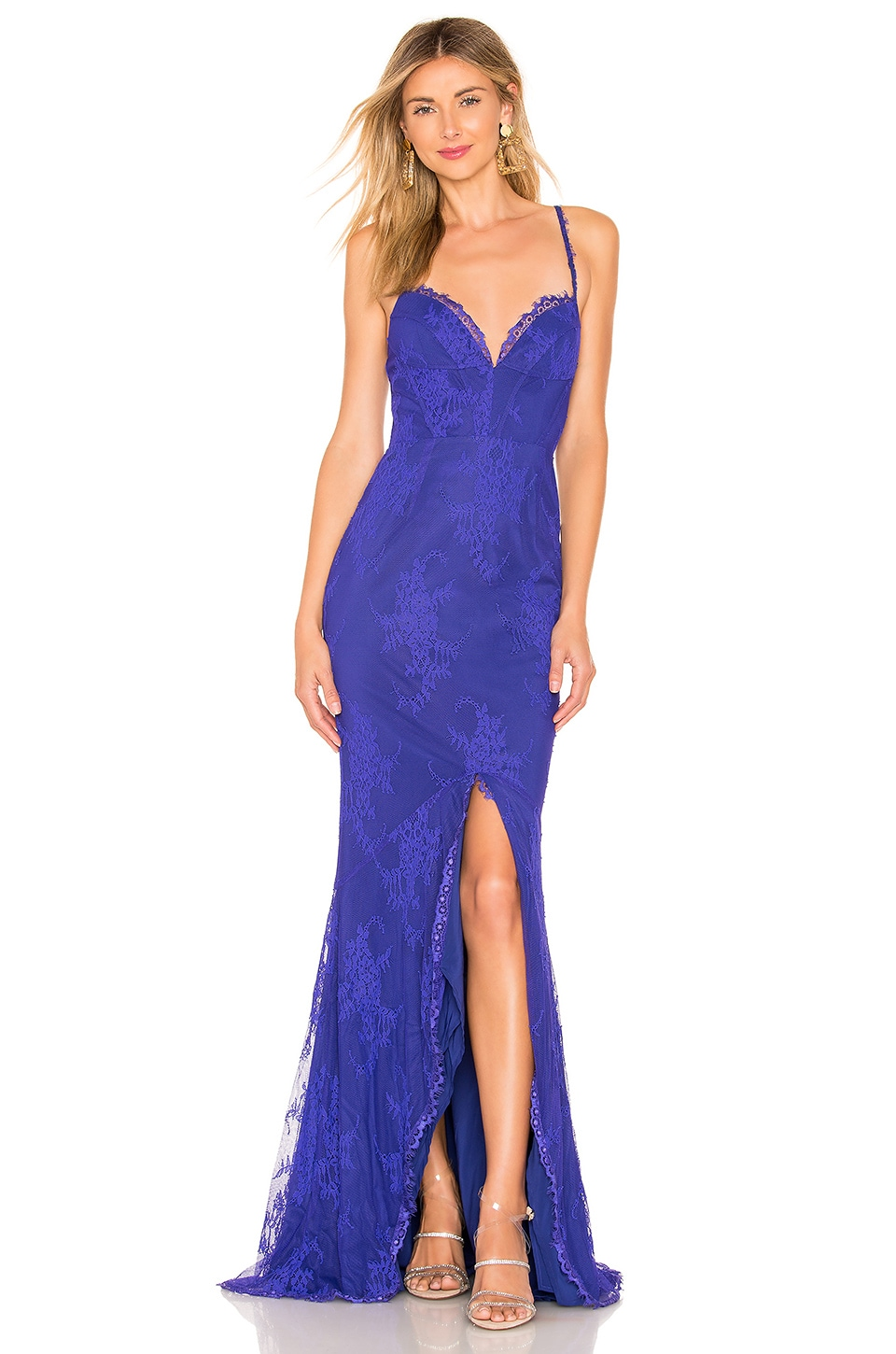 X by NBD Kayla Gown in Violet