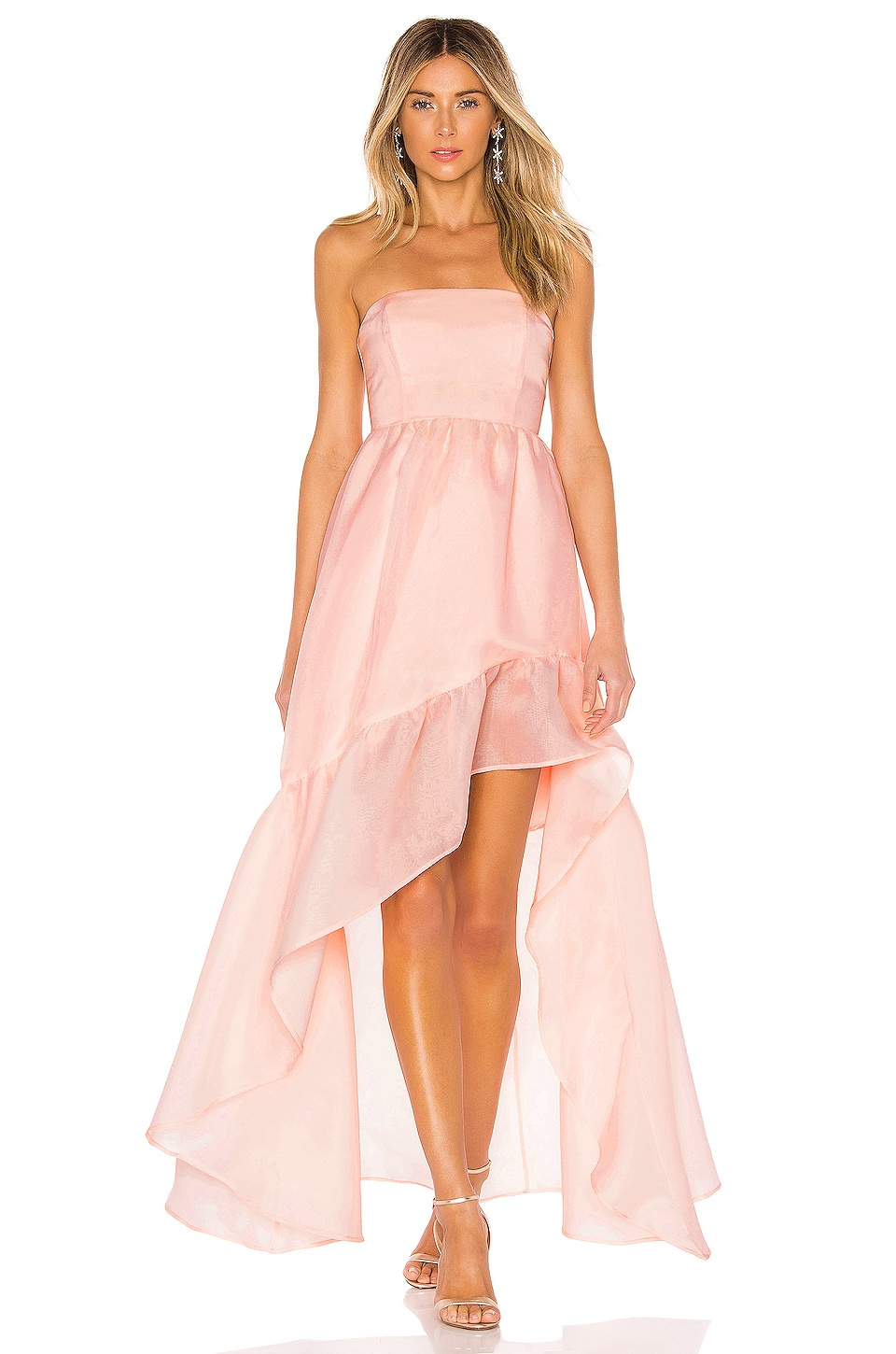 X by NBD Carmelita Gown in Light Pink