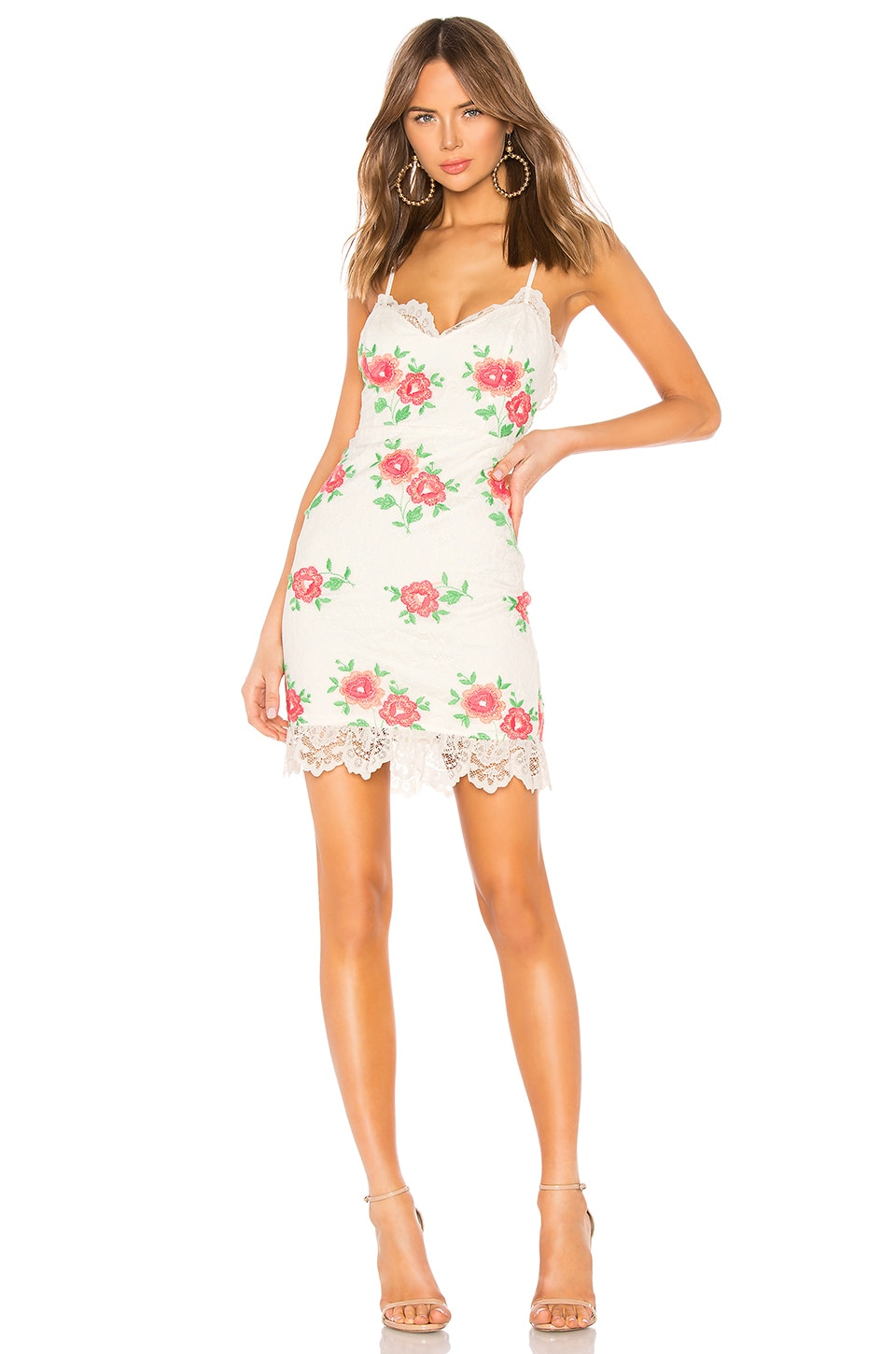 X BY NBD Samson Mini Dress in Ivory