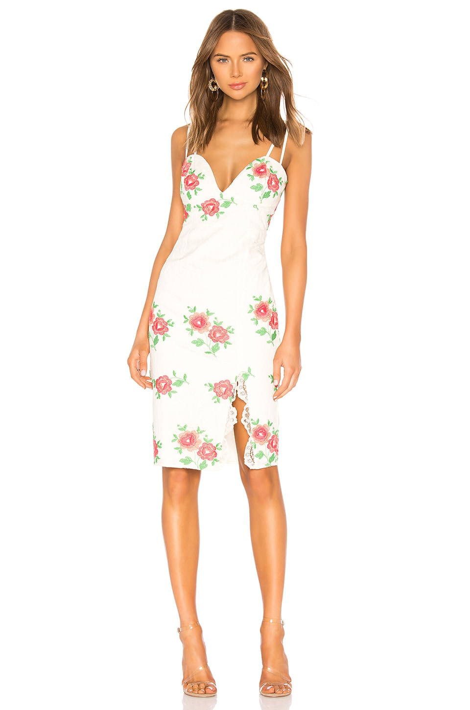 X BY NBD Trey Midi Dress in White