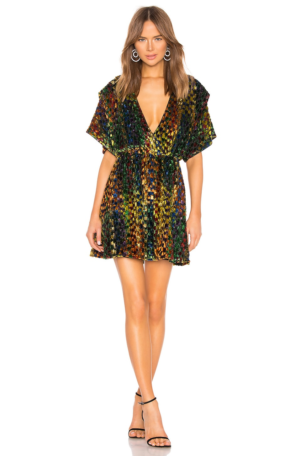 X by NBD Dolliah Mini Dress in Rainbow
