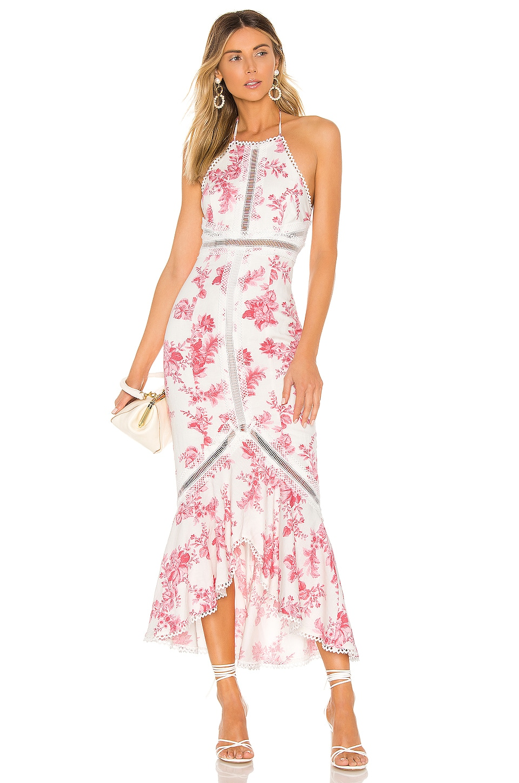 X by NBD Penelope Midi Dress in Harvest Pink