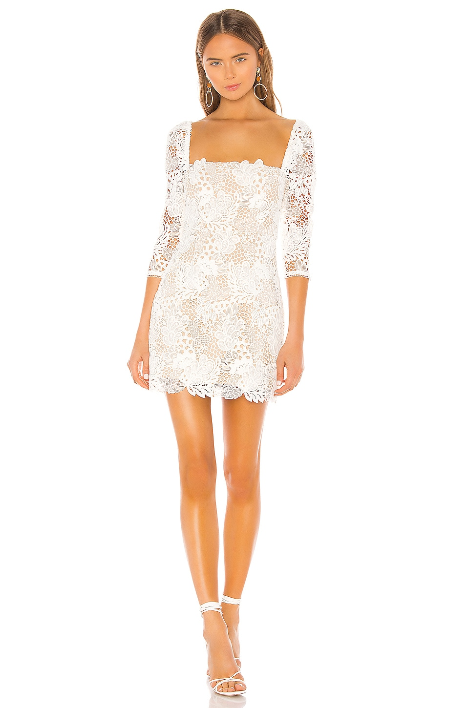 X by NBD Tove Mini Dress in Ivory