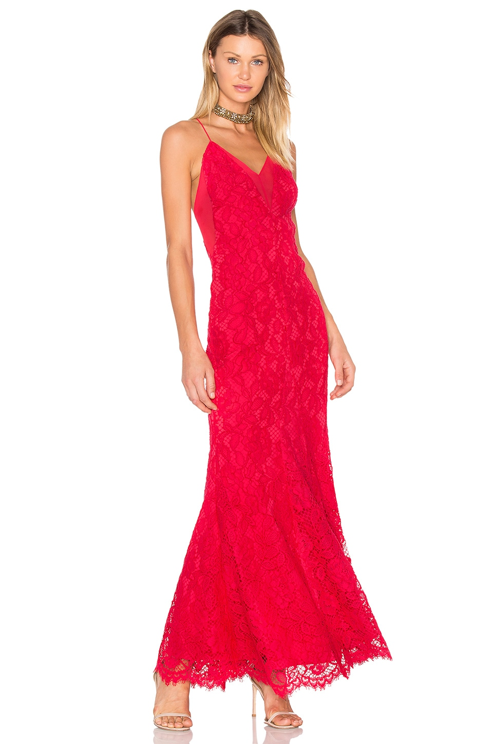 X by NBD Kendra Maxi in Red