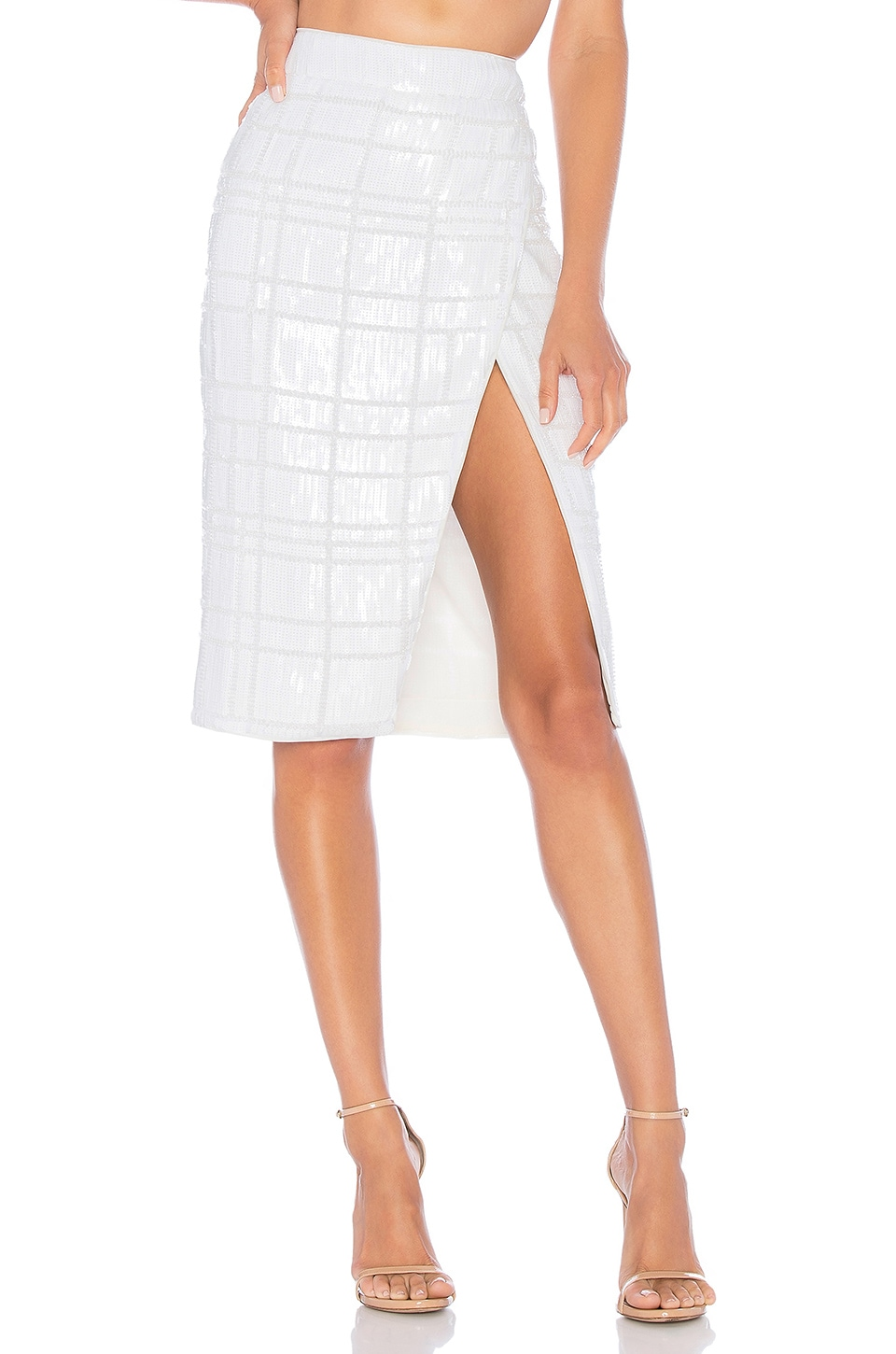 X by NBD Levi Skirt in Ivory Shine