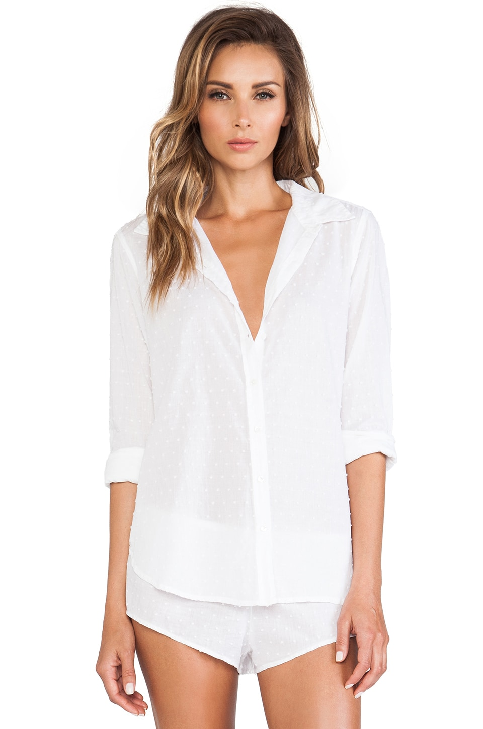 XiRENA Bella Button Up in White