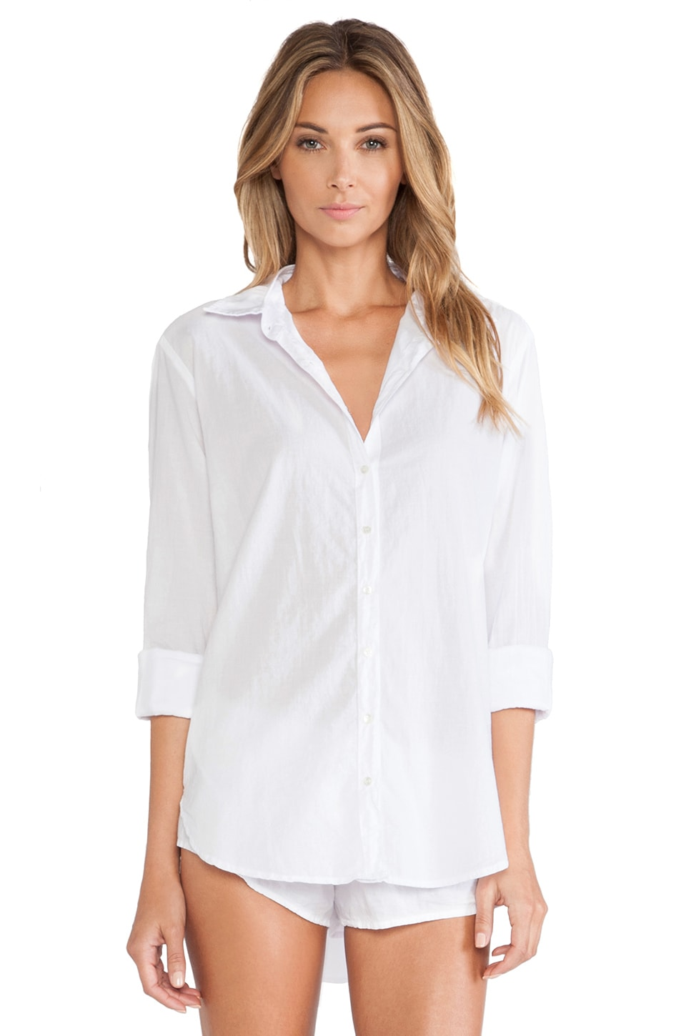 XiRENA Beau Button Up in White