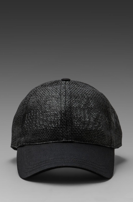 Y-3 Yohji Yamamoto Straw BB Cap in Black