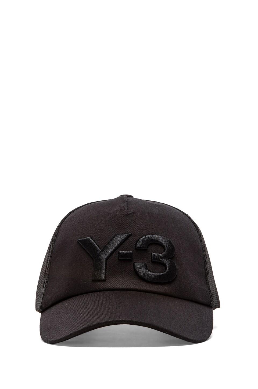 Y-3 Yohji Yamamoto Truck Cap in Black/ Orange