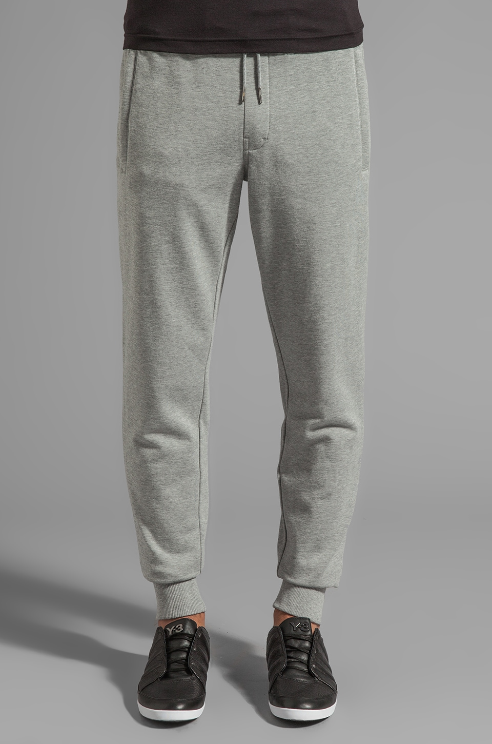 Y-3 Yohji Yamamoto Sweatpant in Medium Grey Heather