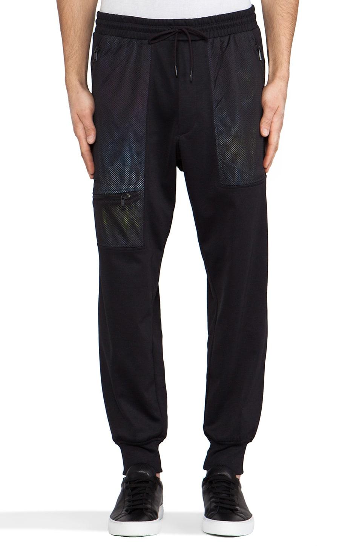 Y-3 Yohji Yamamoto Chevron Pant in Black & Outlook