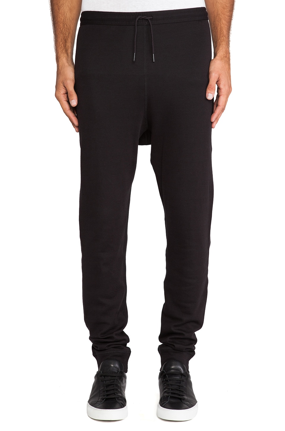 Y-3 Yohji Yamamoto Track Pant in Black & Forest Glade