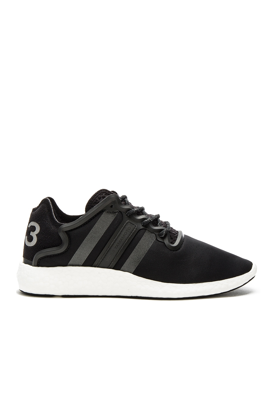 8737f739de5a1 Y-3 Yohji Yamamoto Yohji Run in Core Black   Reflective   FTW White ...