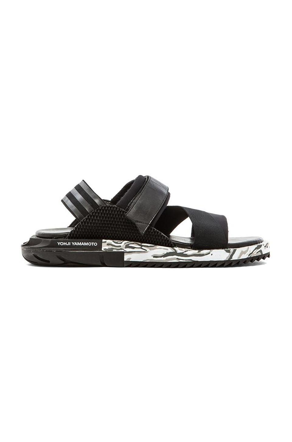 d4fc430a7ad7f Y-3 Yohji Yamamoto Kaohe Sandal in BlkY-3 BlkY-3 BlkY-3
