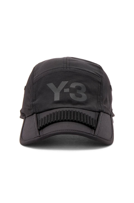7c472fda52231 Y-3 Yohji Yamamoto Foldable Cap in Black