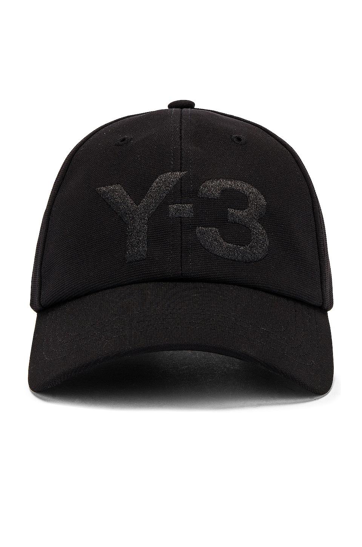 Y-3 Yohji Yamamoto Logo Cap en Black