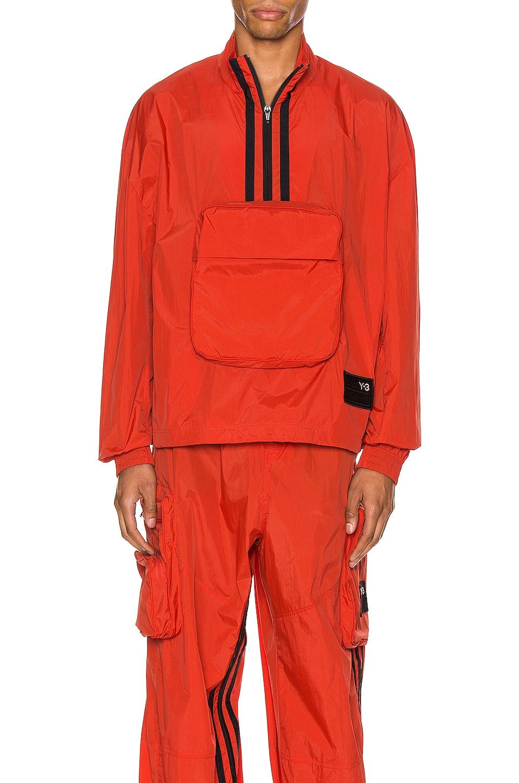 Y-3 Yohji Yamamoto Packable Half-Zip Shell Track Jacket in Icon Orange