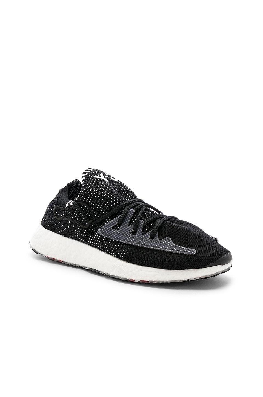 Y-3 Yohji Yamamoto Raito Racer Sneaker in Core Black & White