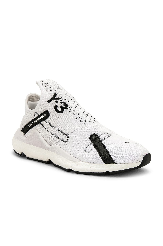 Y-3 Yohji Yamamoto Reberu Sneaker in White & Black