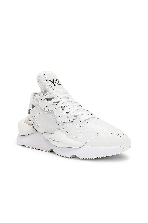 Y-3 Yohji Yamamoto Kaiwa Sneaker in White & Black