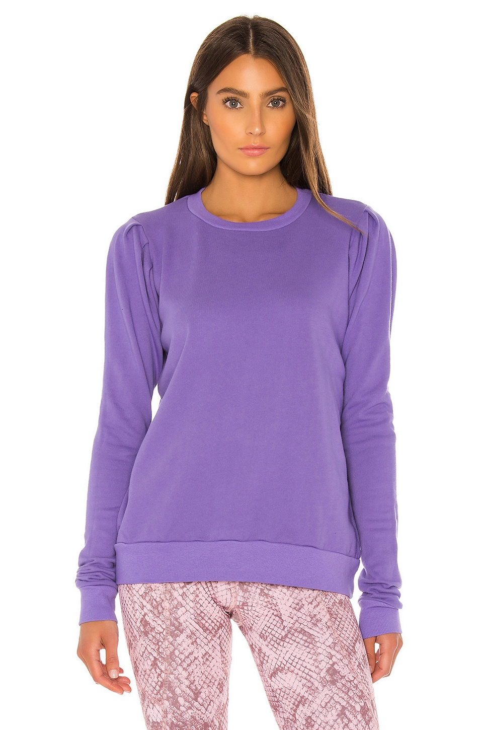 YEAR OF OURS The Gloria Sweatshirt in Orchid