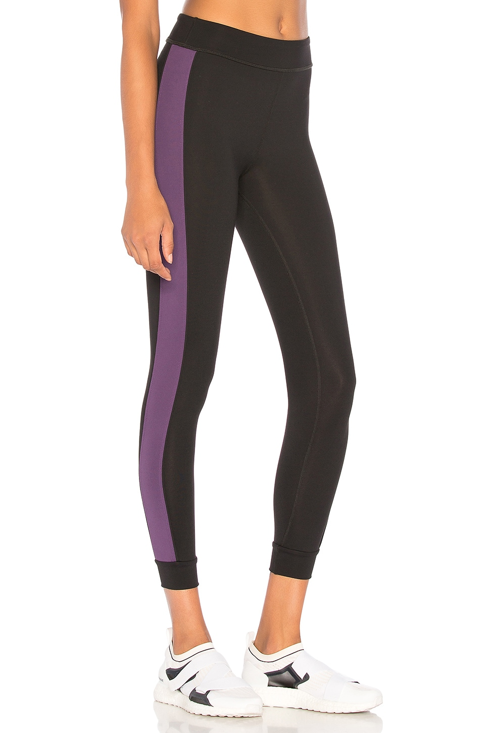 YEAR OF OURS Fall Track Legging in Black & Amethyst