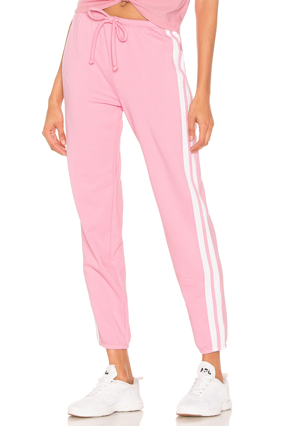 YEAR OF OURS X REVOLVE Boyfriend Track Sweatpant in Pink & White