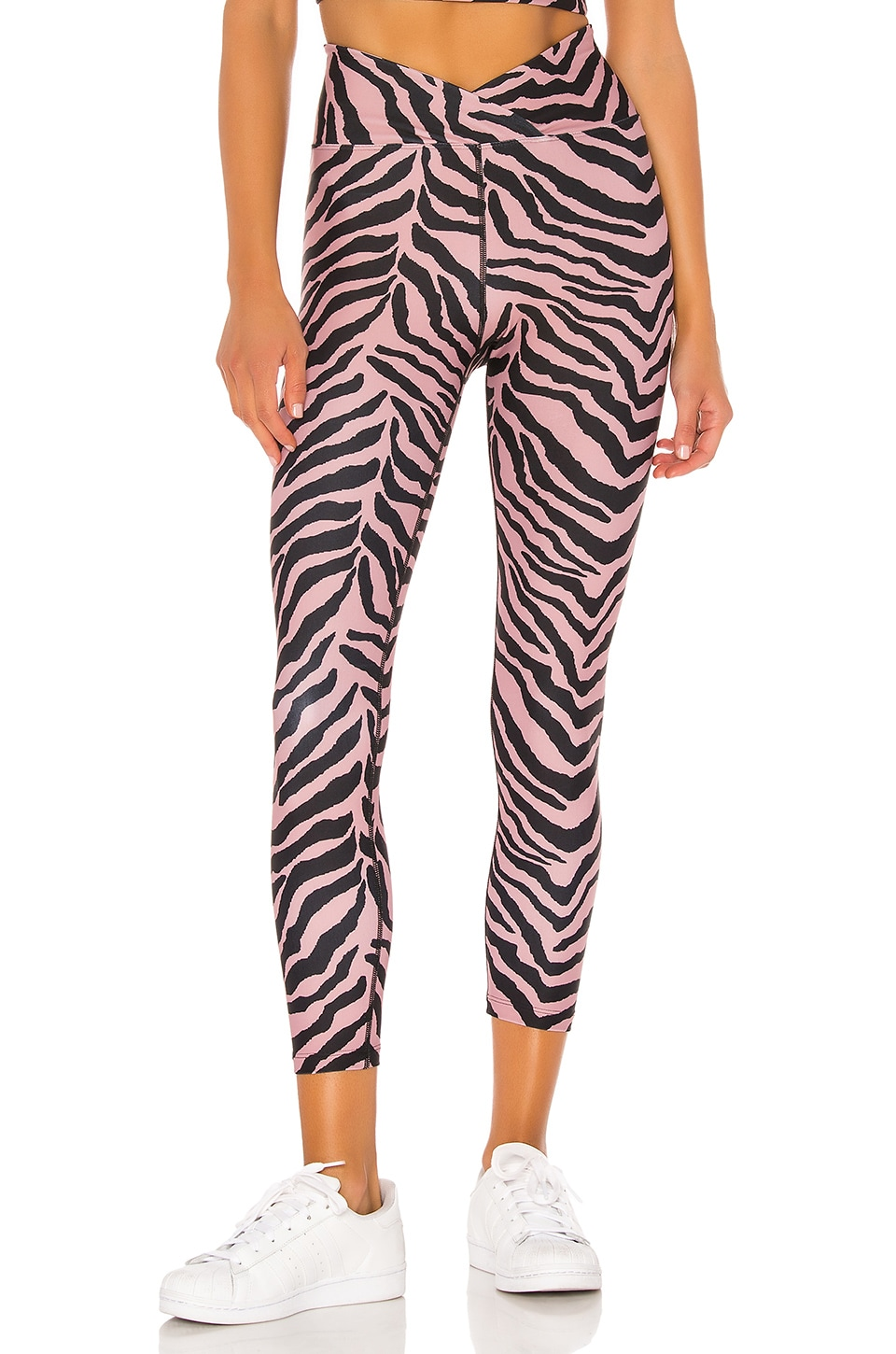 YEAR OF OURS Veronica Tiger Legging in Rose