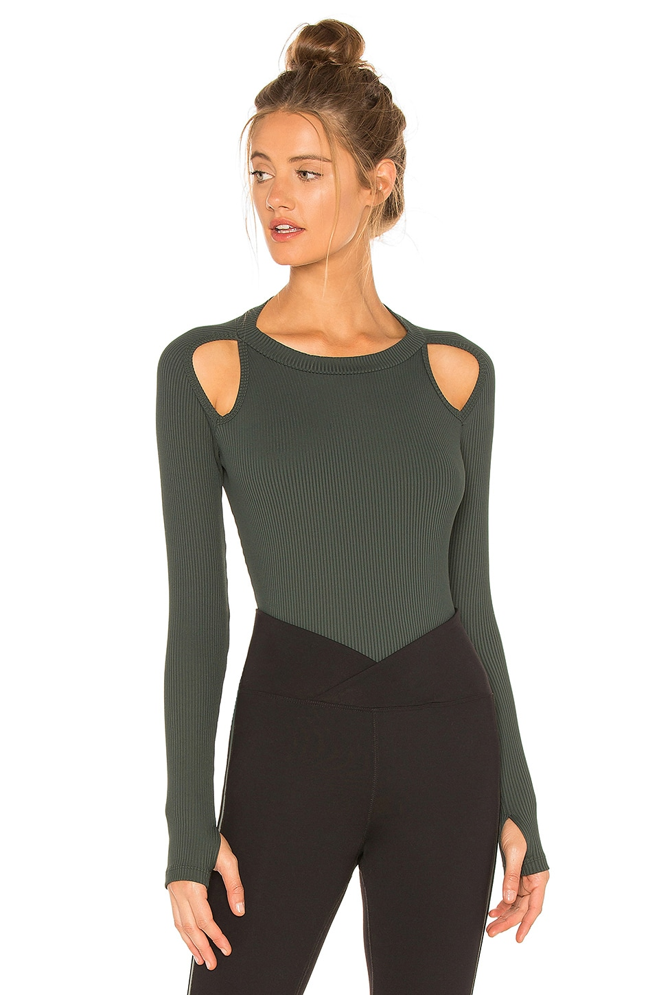 YEAR OF OURS Michelle Bodysuit in Green