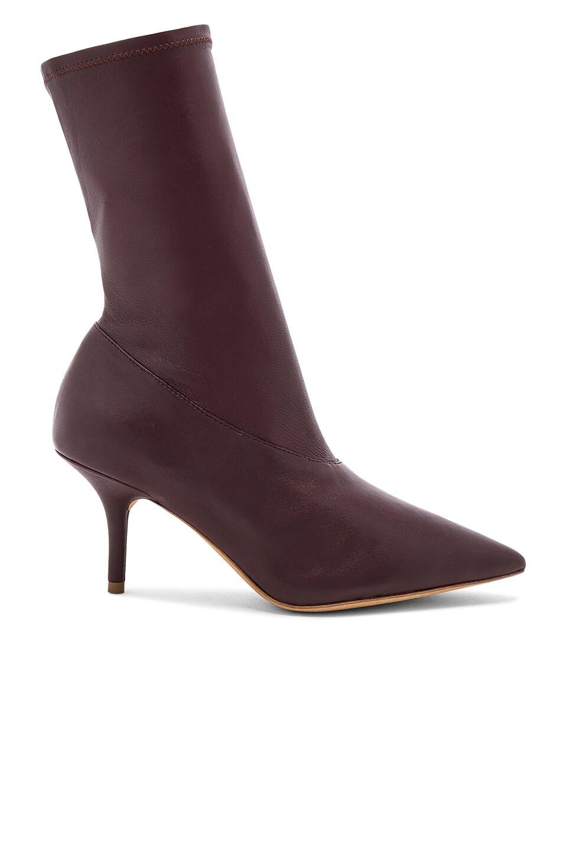 YEEZY Burgundy Season 5 Ankle Bootie