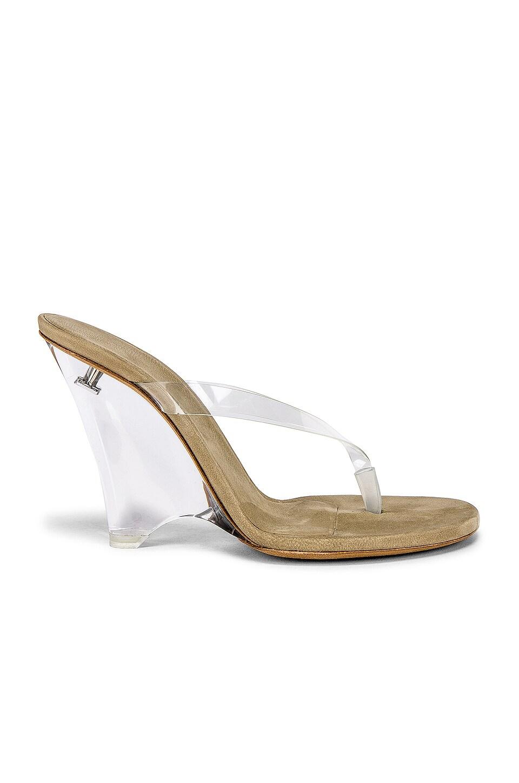 YEEZY SEASON 8 PVC Wedge Thong Sandal in Clear