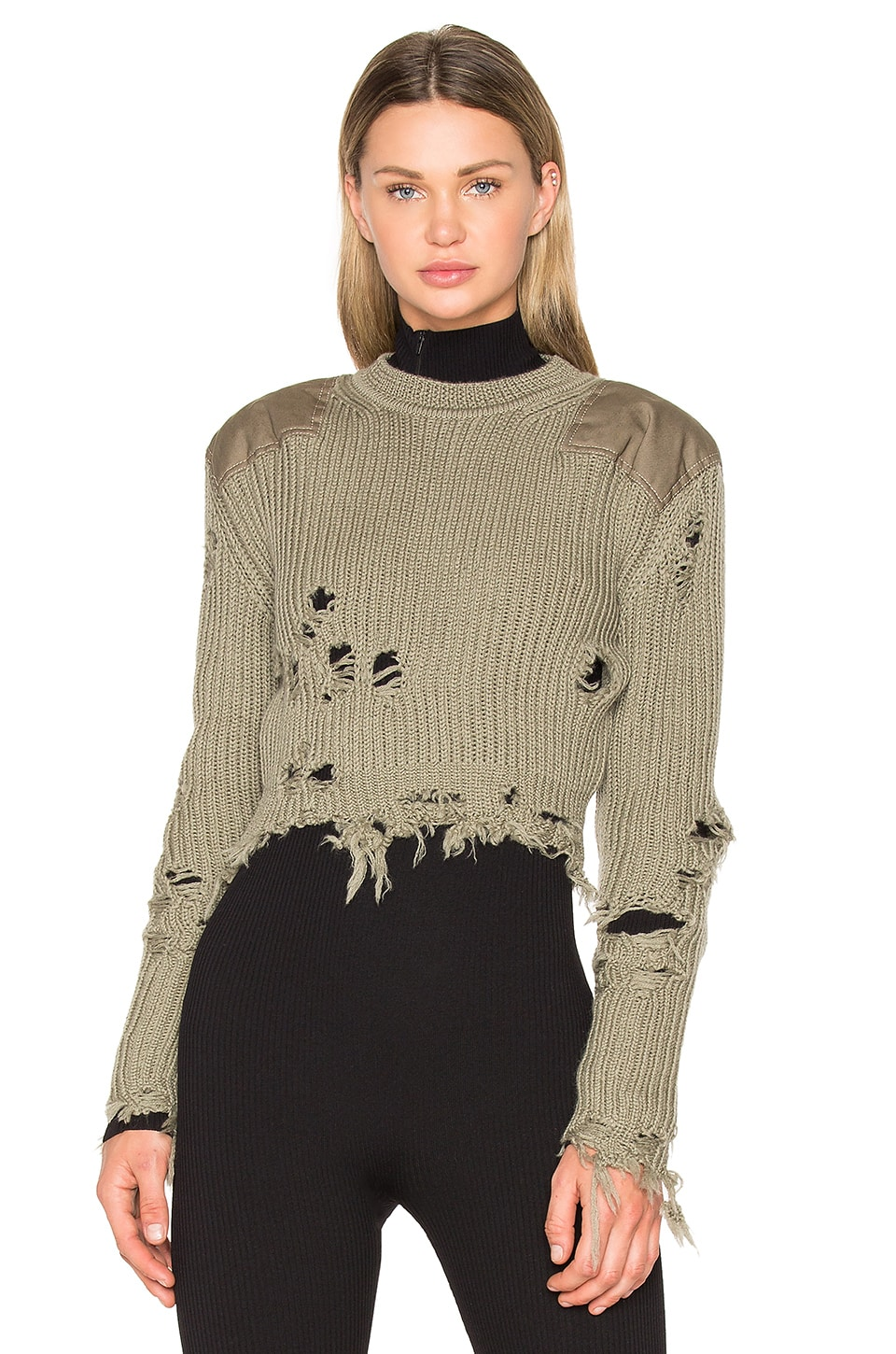 Destroyed Cropped Patch Sweater by YEEZY Season 3
