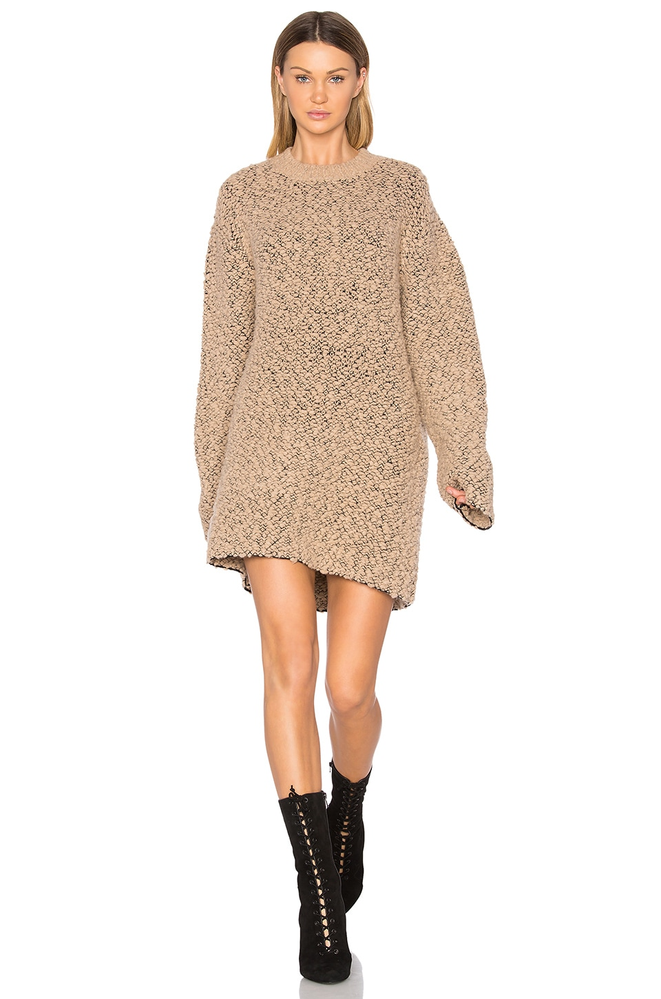 YEEZY Season 3 Oversized Teddy Boucle Sweater in Desert Noise