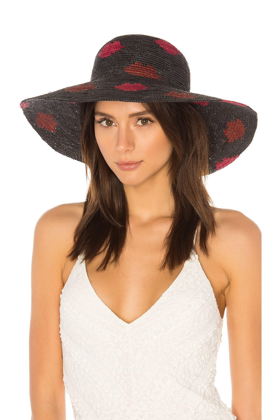 YESTADT MILLINERY KISSES PACKABLE STRAW SUN HAT