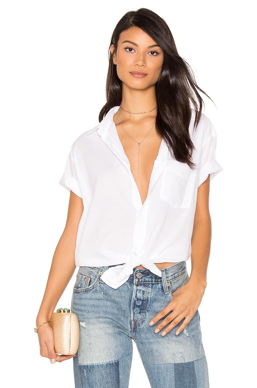 YORK street Boyfriend Shirt in White